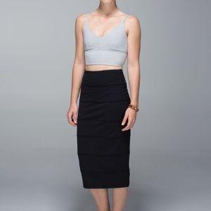 Lululemon Yoga Over Black Skirt Size 6
